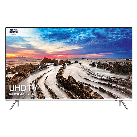 SAMSUNG UE49MU7000, 49 Smart Certified Ultra HD 4K HDR LED TV with TVPlus tuner & Built-in Wi-Fi - silver bezel