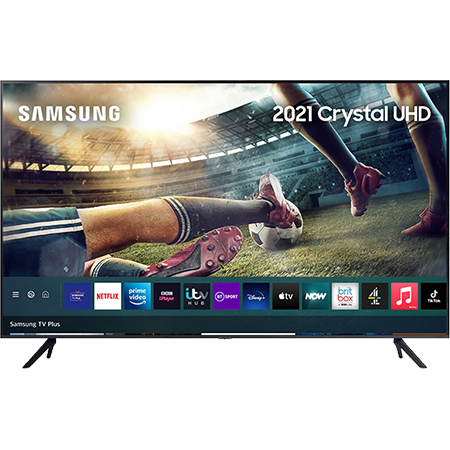 SAMSUNG UE55AU7100, 55 inch LED UHD 4K TV Black with Freeview