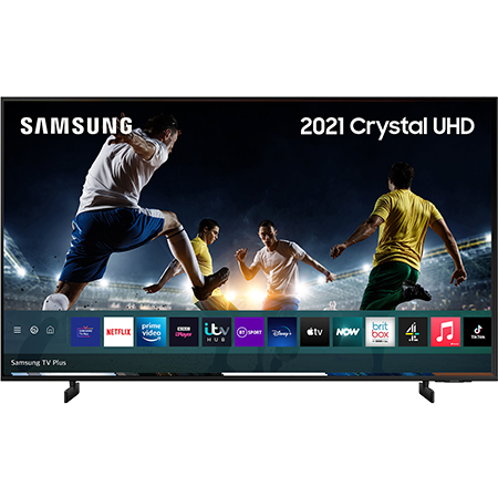 SAMSUNG UE55AU8000, 55 inch LED UHD 4K TV Black with Freeview