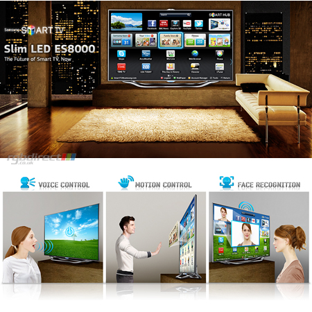 SAMSUNG UE55ES8000, 55 Series 8 Full HD 1080p Smart 3D LED TV with Voice & Motion Control System, Freeview HD & Freesat HD