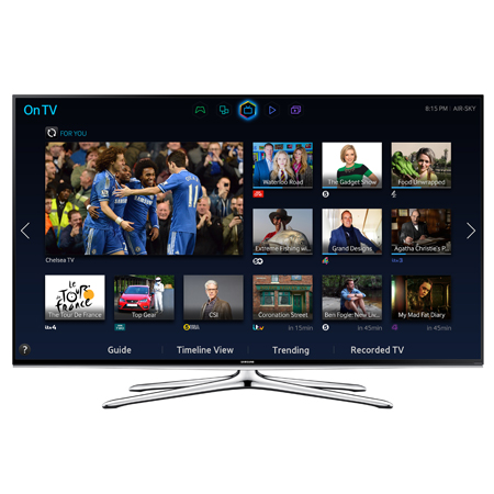 SAMSUNG UE55H6200, 55 inch Full HD 1080p Smart 3D LED TV with Built-In Wi-Fi and Freeview HD.
