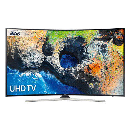 SAMSUNG UE55MU6220, 55 Smart Certified Ultra HD 4K HDR Curved LED TV with TVPlus tuner & Built-in Wi-Fi