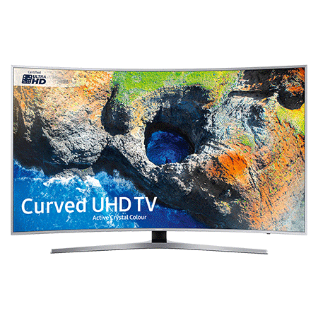 SAMSUNG UE55MU6500, 55 Smart Certified Ultra HD 4K Curved LED TV with TVPlus tuner & Built-in Wi-Fi