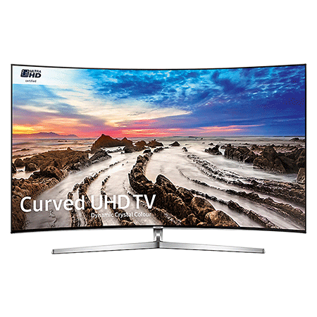 SAMSUNG UE55MU9000, 55 Smart Certified Ultra HD 4K HDR Curved LED TV with TVPlus tuner & Built-in Wi-Fi