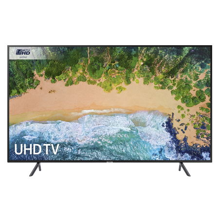 SAMSUNG UE55NU7100, 55 Smart Ultra HD Certified 4K HDR 10+ LED TV with Built-in Wi-Fi, TVPlus