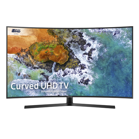 SAMSUNG UE55NU7500, 55 inch Smart Ultra HD Certified 4K HDR 10+ Curved LED TV with Built-in Wi-Fi, TVPlus & Freesat.Ex-Display Model