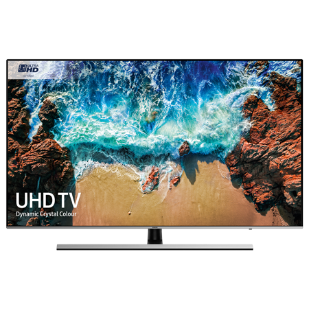 SAMSUNG UE55NU8000, 55 Smart 4K Ultra HD Premium Certified 4K LED TV with HDR 1000, Built-in Wi-Fi, TVPlus & Freesat.
