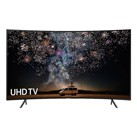 SAMSUNG UE55RU7300, 55 inch Curved  Smart Ultra HD 4K LED TV with HDR 10+, Built in WiFi,  Apple TV and Slim Design