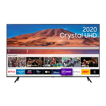 SAMSUNG UE55TU7100, 55 inch Smart Ultra HD 4K LED TV Carbon SIlver FInish with Freeview