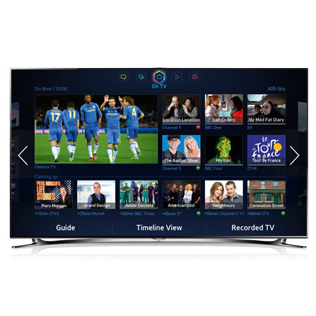 SAMSUNG UE75F8000, 75 Series 8 Full HD 1080p Smart 3D LED TV with Built-In Wi-Fi, Built-in Camera, Freeview HD, Freesat and S Recommendation. Ex-Display Model