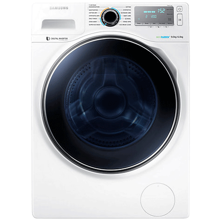 SAMSUNG WD90J6A10AW, 9kg Washer / 6kg Dryer 1400 rpm with ecobubble, A Energy Rating - White