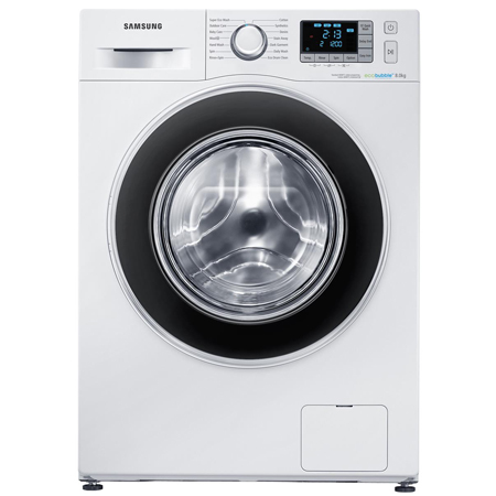SAMSUNG WF80F5EBW4W, Freestanding 8kg Washing Machine in White