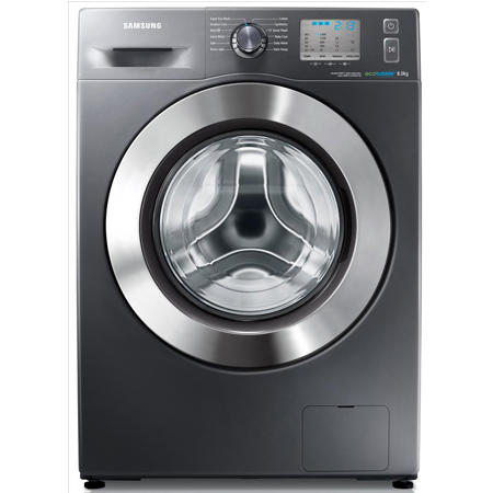 SAMSUNG WF80F5EDW4X, 8kg Washing Machine in Graphite Silver