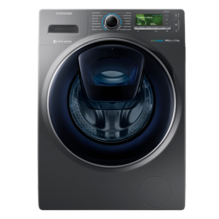 SAMSUNG WW12K8412OX, 12kg 1400rpm Washing Machine with A+++ Energy Rating - Graphite