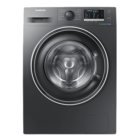 SAMSUNG WW80J5555EX, 8kg Washing Machine with 1400 RPM Spin Speed - Inox / Graphite colour