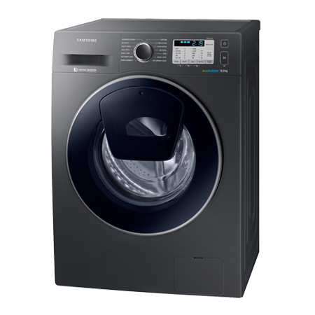 SAMSUNG WW80K5413UX, Freestanding 8kg 1400rpm Washing Machine with A+++ Energy Rating - Graphite