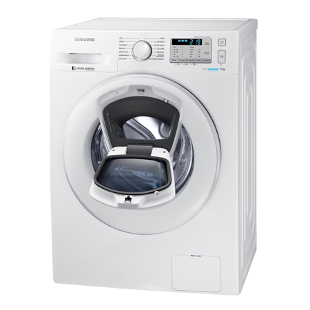 SAMSUNG WW80K5413WW, Freestanding 8kg 1400rpm AddWash Washing Machine with A+++ Energy Rating White