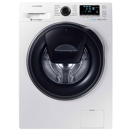 SAMSUNG WW80K6610QW, 8 kg 1600rpm AddWash Washing Machine with ecobubble, A+++ Energy Rating - White