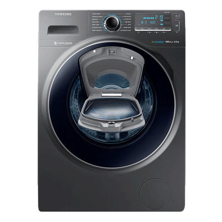 SAMSUNG WW90K7615OX, 9 Kg  1600rpm AddWash Washing Machine with ecobubble- Inox,  A+++ Energy Rating.Ex-Display Model