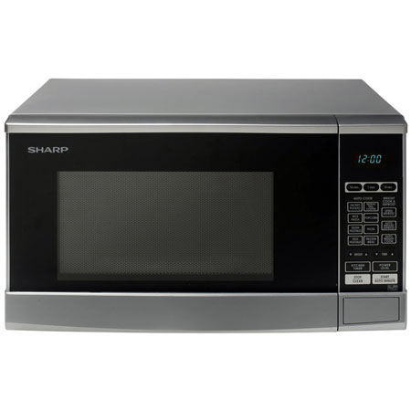 SHARP R270SLM, Freestanding 800W Microwave Oven in Silver