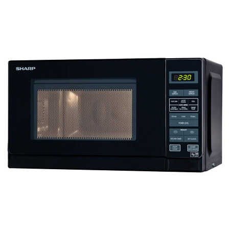 SHARP R272KM, 800W Microwave Oven with Touch Controls in Black