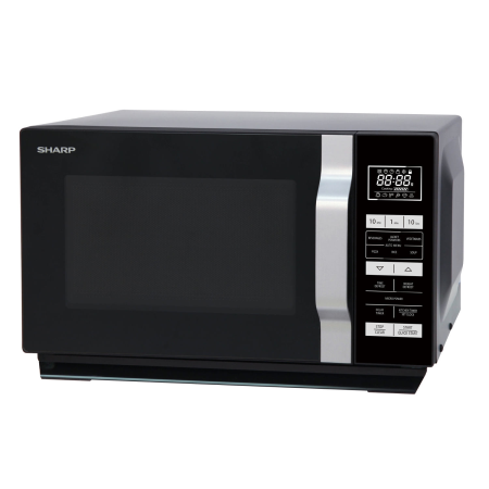 SHARP R360KM, 900W Microwave Grill Black with Touch Controls