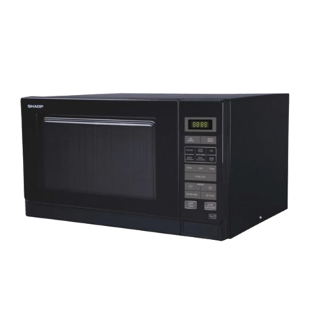 SHARP R372KM, Freestanding 900W Microwave Oven Black with Touch Controls