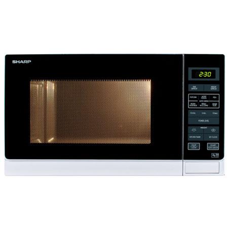 SHARP R372WM, Freestanding 900W Microwave Oven in White