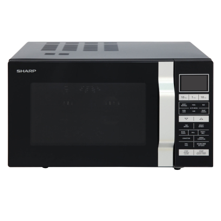 SHARP R860KM, 900W Microwave Grill Black with Touch Controls