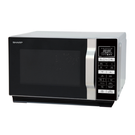 SHARP R860SLM, 900W Microwave Grill Silver with Touch Controls