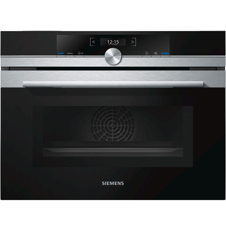 SIEMENS CM633GBS1B, iQ700 Built-In Microwave Combi Stainless Steel with A Rated Energy Rating