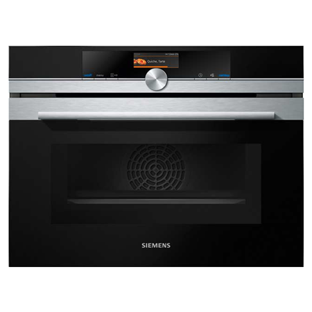 SIEMENS CM656GBS6B, iQ700  Compact oven with microwave - Stainless Steel