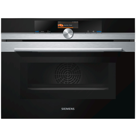 SIEMENS CM676GBS6B, Built-in Microwave Oven with Home Connect Stainless Steel with Energy Rating A