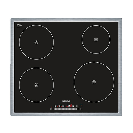 SIEMENS EH645FE17E, iQ300 60 cm 4 Zone Induction Hob with Touch Controls & stainless steel trim.Ex-Display