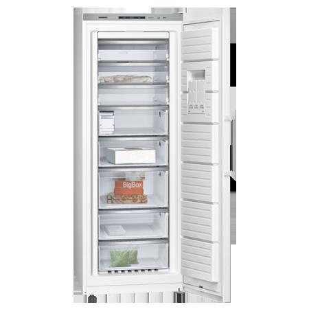 SIEMENS GS58NAW41, iQ500 Freestanding Frost Free Upright Freezer White.