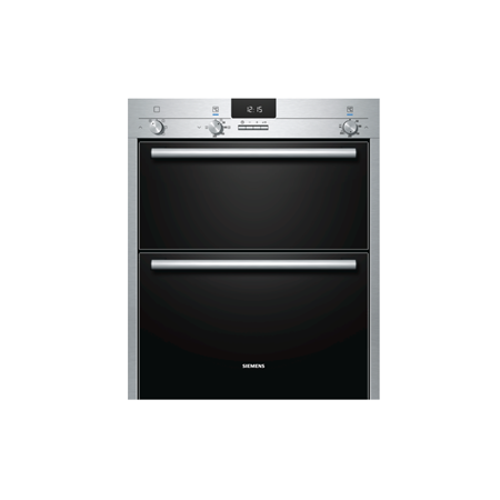 SIEMENS HB13NB521B, iQ100 Multifunction Built Under Double Oven Stainless steel