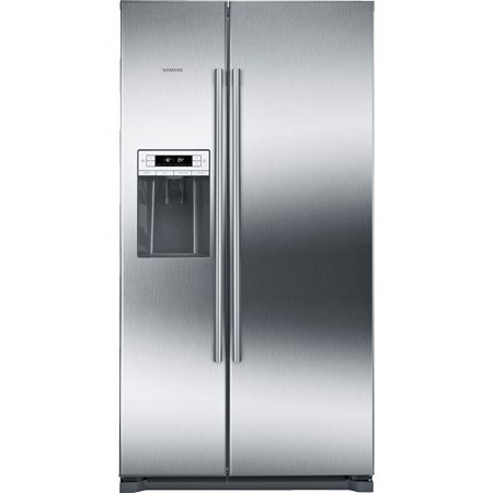 SIEMENS KA90IVI20G, American Style Side By Side Fridge Freezer with A+ Energy Rating in Stainless Steel