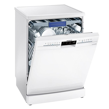 SIEMENS SN236W02MG, 60cm Freestanding Dishwasher - 14 Place Settings with A++ Energy Rating in White Ex-Display Model