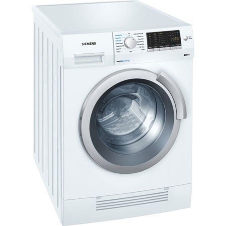 SIEMENS WD14H420GB, iQ500 Freestanding 7Kg 1400rpm Washer Dryer White. Ex-Display Model.