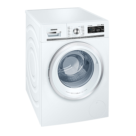 SIEMENS WM16W590GB, iQ500 Freestanding 8Kg 1600rpm Washing Machine with A+++ Energy Rating - White. Ex-Display Model