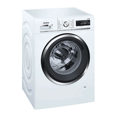 SIEMENS WM16W5H0GB, 9kg Washing Machine with 1600rpm,  Freestanding in White with A+++ Energy Rating