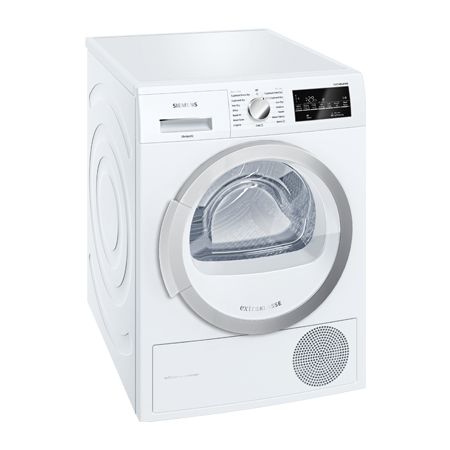 SIEMENS WT46G490GB, 9kg Condenser Dryer with B Energy Rating - White.  Ex-Display Model