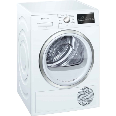 SIEMENS WT46G491GB, 9kg Condenser Dryer White