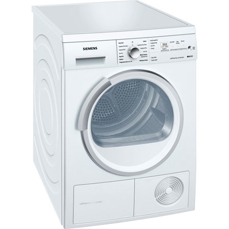 SIEMENS WT46W380GB, iQ300 Freestanding 7Kg Condenser Dryer White.Ex-Display