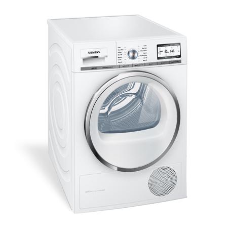 siemens wt48y800gb iq700 freestanding 8kg condenser dryer white. Black Bedroom Furniture Sets. Home Design Ideas