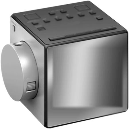 Sony Icfc1pj Portable Analogue Clock Radio Silver