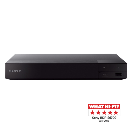 SONY BDPS6700B, Blu-ray Disc Player with 4K Upscaling and Built-in Wi-Fi