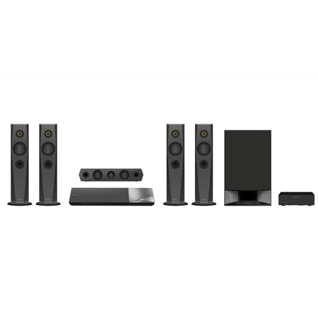 SONY BDVN7200WB, 5.1ch 3D Blu-Ray Disc Home Cinema System with magnetic fluid satellite speakers, NFC, Bluetooth, screen mirroring & 4K Upscaling.