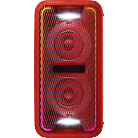 SONY GTKXB7R, Boombox with Wireless Bluetooth NFC Speaker With LED Lighting in Red