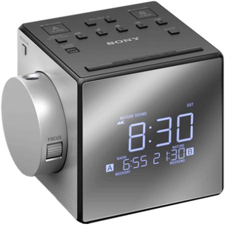 SONY ICFC1PJ, Portable Analogue Clock Radio - Silver